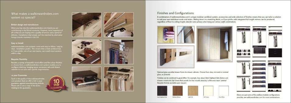 latest walk in wardrobes brochure