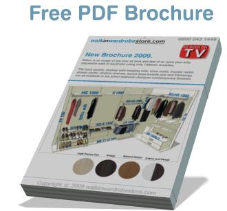 brochure for walk in wardrobes
